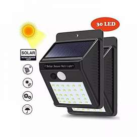 Lampu Dinding / Solar Wall Light 30 Led Tenaga Matahari PIR CDS Sensor