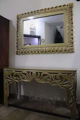 Set of 2 Console Table & Mirror