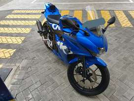 Suzuki GSX R150 Keyless Biru GP Modif Simple