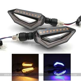 Motorcycle Bike DRL INDICATOR WITH FLOW LIGHT Eagle Eye Style