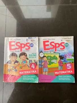 Buku ESPS Matematika, IPS, Bahasa Indonesia, IPA Kelas 4 dan 5 SD