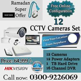 Complete Set of 12 CCTV Security Camera System