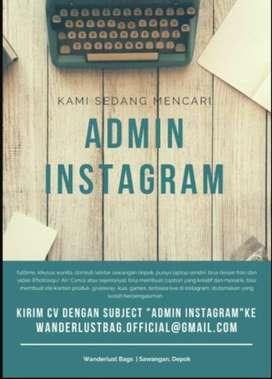 LOWONGAN Admin Instagram online shop Pasir Putih Sawangan Depok