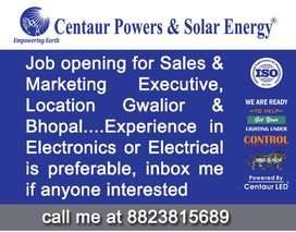JOB OPENING FOR Sales And Marketing Executive ( LED Lighting Industry)