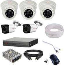 5 HD CCTV Camera setup installation-