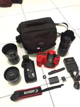Canon 60D fullset Banyak Bonus