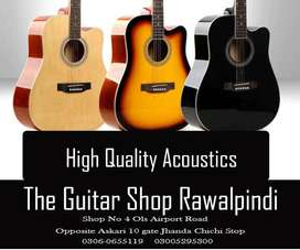 High Quality Acoustics At The Guitar Shop
