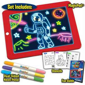3D Magic Drawing Pad 8 Light Effects Puzzle Board 3D Sketchpad Tablet