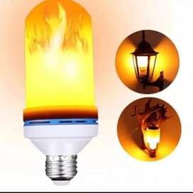 HS Lampu Led Api 9 Watt 9W / Lampu Dekorasi Cafe / Led Flame Fire