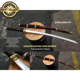 Samurai Katana Shin Gunto Natural / Black Tebas paku