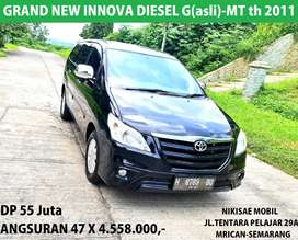 Termurah DP 55 jt Grand New Inn0va G–MT Diesel/2011Asli Mulus-Full Ori