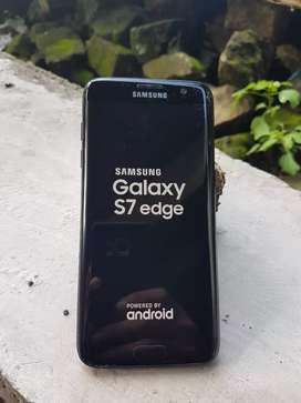 Samsung S7 EDGE Sein Dual Sim  ini yg internal 128 retak cantik normal