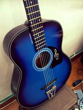 New Branded Blue Acoustic Guitar for sale in almost half price