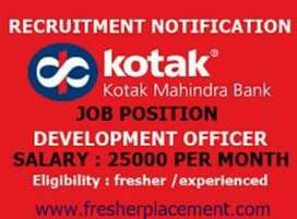 Urgent hiring in kotak bank job