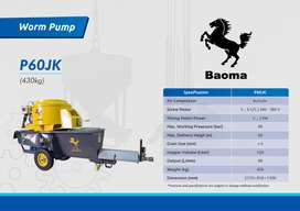 Groutpump / WormPump BAOMA P60JK With Mixer and Air Compressor