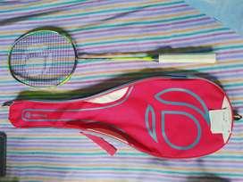 Badminton racket artengo with bag