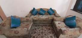 5 Seater Sofa with Cusion and sofa cover