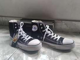 Sepatu Converse All Star 43 High Hitam Putih Import