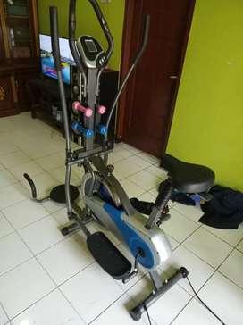 Sepeda fitnes orbitrek plat 6 fungsi