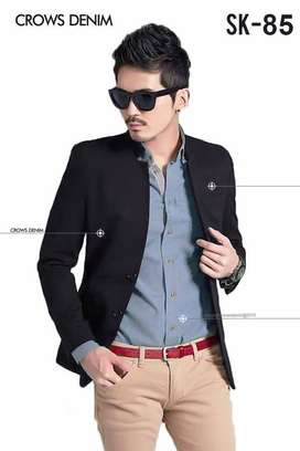 Jas Wisuda Black Korean Formal Slimfit SK85