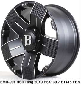 Harga velg racing EMR 901 HSR R20X9 H6X139,7 ET+15 FBLM