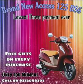Access 125 BS6 on lowest downpayment