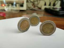 uang koin kelapa sawit dan uang koin thailand kuno
