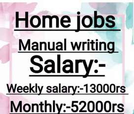 Hand writing weekly  job