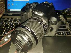 Canon 750D with 18 55mm lens