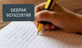 Good hand writing best part time job
