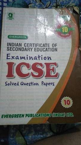 Icse 10 years solved question paper book