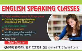 Spoken and written english class for everyone