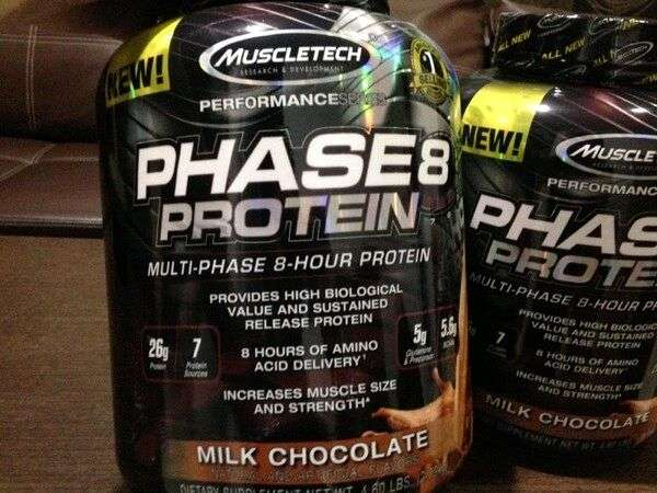 Muscletech Phase 8 4,4lb Whey Protein Blend Time Release 0
