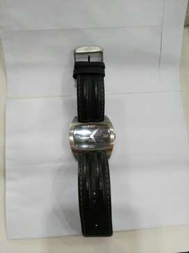 Black Analog Watch With Black Band