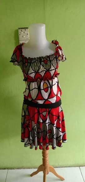 Pl dress bahan korea
