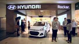 Hyundai showroom hiring fresher and exp.male candidates.