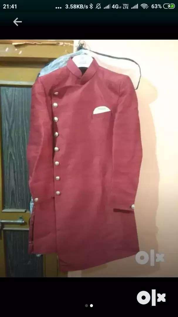 Western party wear kurta with golden pajami 0