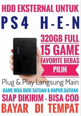 HDD 320GB Mantap Mrh Terjangkau FULL 15 Game Terkini PS4 Bebas Pilih