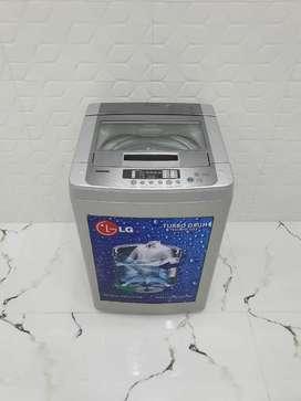 Iduf4 lg turbo drum 6.2 kg fully automatic silver washing machine