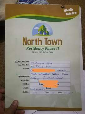 120 Yds. Plot In North Town Residency Phase 2 At Amazing Price