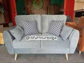 Sofa 2 seater , Double Sandaran , Harga Terjangkau,
