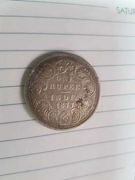 Old silver coin  1904 and 1877