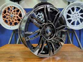 Velg Mobil Honda Brio DLL- HSR SIRIUS Ring 16 Warna Black Chrome