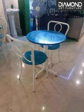 BUY ANTIQUE LOOK CAFE HOTEL RESTAURANT TABLE CHAIR COUPLE SET