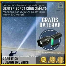 Lampu Senter Polisi LED Taktis 8000LM XML-T6 Bisa Dizoom Waterproof