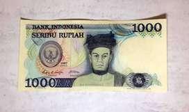 Uang Kertas Kuno Rp. 1.000,-