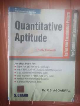Quantitative Aptitude Book for UPSC Exam on Sale