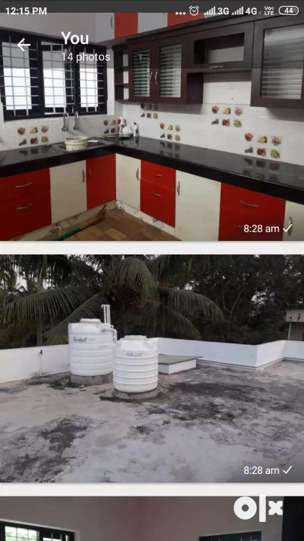 3 bhk new house for rent at ulllor-akkulam road 0