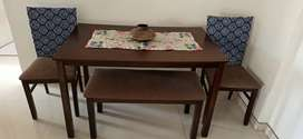 4 seater dining table( with bench)