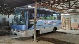 Isuzu NKR 71 Bus 29 Seat Roda6 Biru 2007 Cantik Km 30000 AC Thermoking